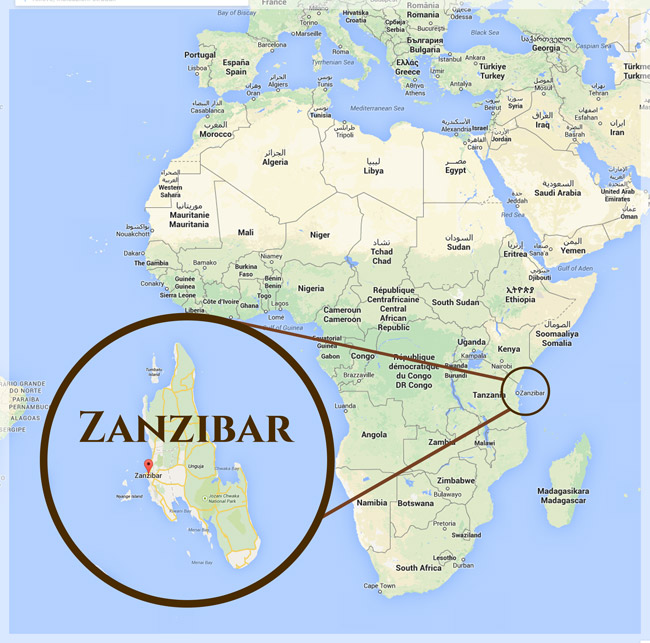 Танзания занзибар на карте мира